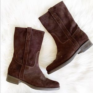 J. Crew Brewster Suede Leather Mid Calf Boot